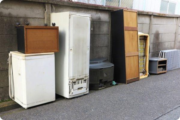 不用品回収の指定置き場